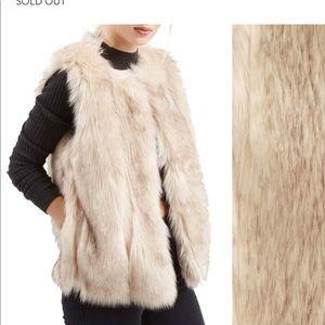 Topshop 'Leah' Faux Fur Vest